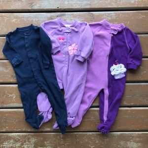 3/$30 - One Piece Footed Pajama Lot - Size 12 mos